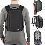 DSLR Camera and Mirrorless Backpack Bag by Altura Photo for Camera and Lens (The Light Traveler Series)