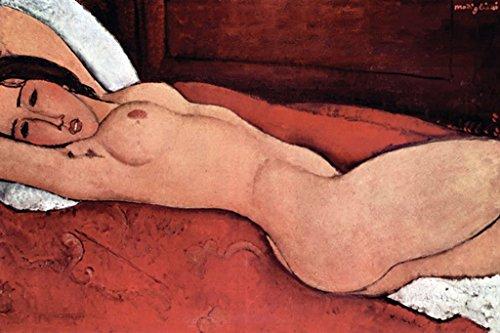 Reclining Nude, by Amedeo Modigliani, 20x30 Paper Giclée