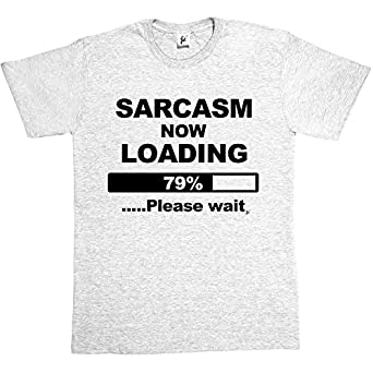 Sarcasm Now Loading Funny Joke Ash Grey Mens Cotton Short Sleeve T-Shirt Size S Great for Father's Day Dad T-shirt Brother Uncle Friend Joke