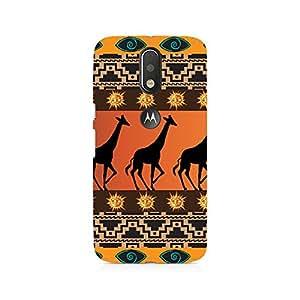 Ebby Tribal Giraffe Premium Printed Case For Moto G4/G4 Plus