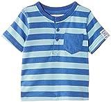 Pumpkin Patch Baby-Boys Stripe Henley T-Shirt, Regatta Blue, 6-9 Months (Manufacturer Size:6-12 Months)