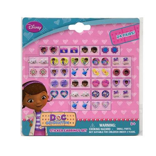 Disney Doc McStuffins 24 Pair Sticker Earrings (Pack of 3) - 1