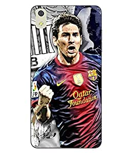 Make My Print Messi Printed Multicolor Soft Back Cover For LYF WATER 8