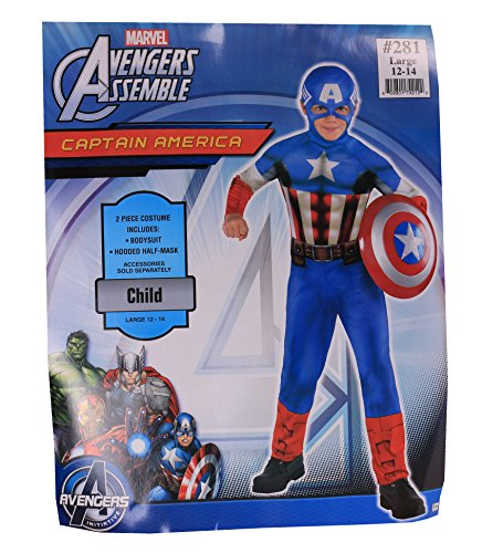 Captain America Boy's Costume Large 12 - 14