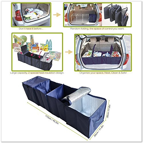 Multi Compartment Fabric Foldable Car Organizer