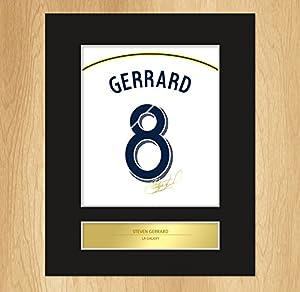 Steven Gerrard Signed Mounted Artistic Photo Display LA Galaxy