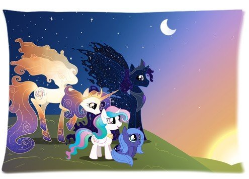"Cartrol Cotton & Polyester Custom Pillowcase- Entertainment Franchise My Little Pony Zippered Pillow Case Covers Standard Size 20""X30"" (One Side) front-797522"