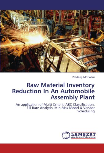 Raw Material Inventory Reduction In An Automobile Assembly Plant: An application of Multi-Criteria ABC Classification, Fill Rate Analysis, Min-Max Model & Vendor Scheduling