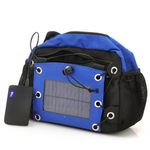Camera Bag With Solar Panel - 2200Mah Back-Up Battery