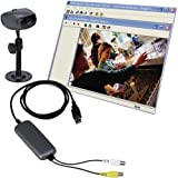 Lorex DVM2051P Internet Video Security Monitoring CCTV Camera with Video Grabber 60 Feet of Cable and Software