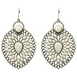 Tohfa Planet White Dangle And Drop Earrings For Women