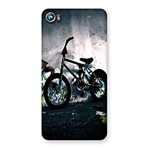 Ajay Enterprises Small Cycel Back Case Cover for Micromax Canvas Fire 4 A107