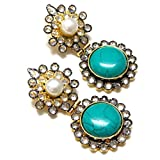 Divinique Jewelry Turquoise AD earrings