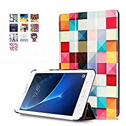 Tab A 7.0 Case - DHZ Colored Squares Ultra Slim Lightweight Standing Cover for Samsung Galaxy Tab A 7.0 7-inch Tablet 2016 Release (SM-T280 / SM-T285)