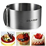 Cade Stainless Steel 6 to12 Inch Adjustable Cake Mousse Mould Cake Baking Cake Decor Mold Ring