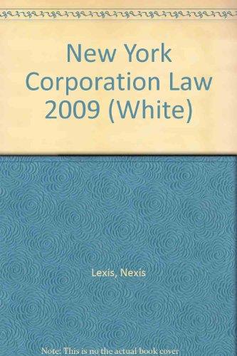 New York Corporation Law 2009 (White)