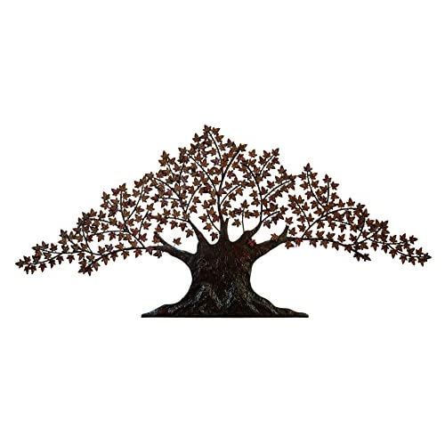 Deco 79 Metal Wall Tree Decor, 92-Inch by 42-Inch