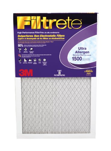 Filtrete Ultra Allergen Filter, 1500 MPR, 14-Inch by 20-Inch by 1-Inch, 4-Pack