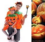 ハロウィンかぼちゃ衣装パンプキンコスチュームコスプレ仮装帽子付(大人用)