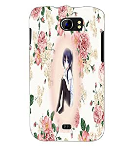 PrintDhaba Sad Girl D-3198 Back Case Cover for MICROMAX A110 CANVAS 2 (Multi-Coloured)