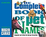 img - for The Complete Book of Pet Names book / textbook / text book
