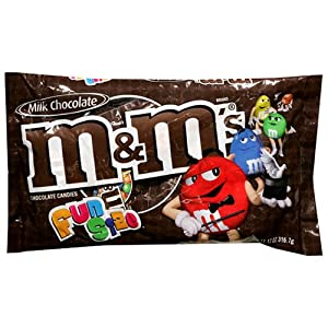 M&M's Milk Chocolate Candies, Fun Size, 11.17-Ounce Bag (Pack of 6)