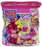 Mega Bloks Building Blocks Bag (Pink, Medium)