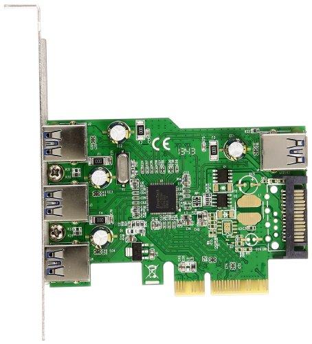 地区体育 QUATTRO PCI Express x 4 连接钰芯片配备 USB3.0 主板外部 3 端口内部 1 端口低配置文件对应 SD-PE4U3E-3E1L