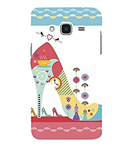 GIRLS FOOTWEAR WITH A PATTERN LIKE LOOK 3D Hard Polycarbonate Designer Back Case Cover for Samsung Galaxy J2 (2016)