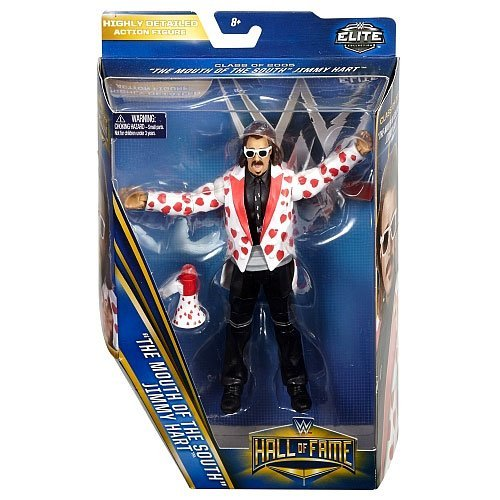 """WWE Wrestling Hall of Fame Elite Collection """"The Mouth of the South"""" Jimmy Hart 6"""" Action Figure"""