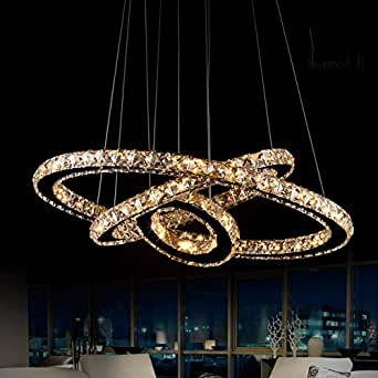 LED Chandeliers Crystal Pendant Lights Ceiling Hanging Light Lighting Lamps F
