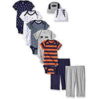 9-Piece Gerber Baby Boys' Seriously Cute Bodysuit, Pant and Cap Gift Set (0-6 Months)