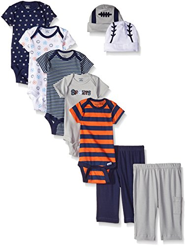 Gerber Baby 9 Piece Playwear Gift Set, Sports, 0-3 Months