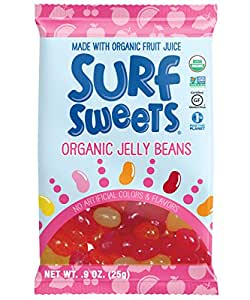 Surf Sweets Organic Jelly Bean Snack Packs, 0.8-Ounce Packages (Pack of 24)