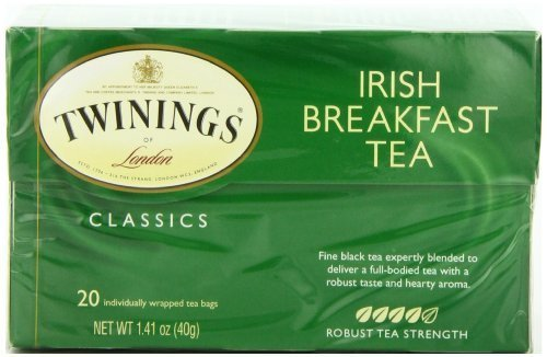 Twinings Irish Breakfast Tea, Tea Bags, 20-Count Boxes (Pack Of 6) By Twinings
