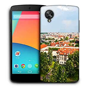 Snoogg Red Roof Houses Printed Protective Phone Back Case Cover For LG Google Nexus 5