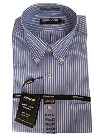 Kirkland signature men 39 s no iron dress shirt many size colors at amazon men s clothing store - How to unwrinkle your clothes with no iron ...