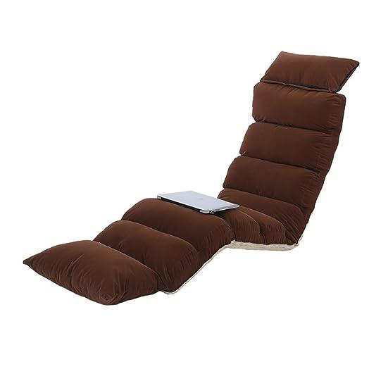 Sedia a sdraio pieghevole con schienale regolabile Comodo divano pigro per cuscino da pavimento per ufficio , coffee , L