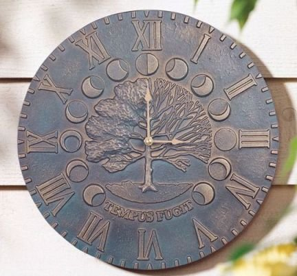 Whitehall Times and Seasons Clock French Bronze