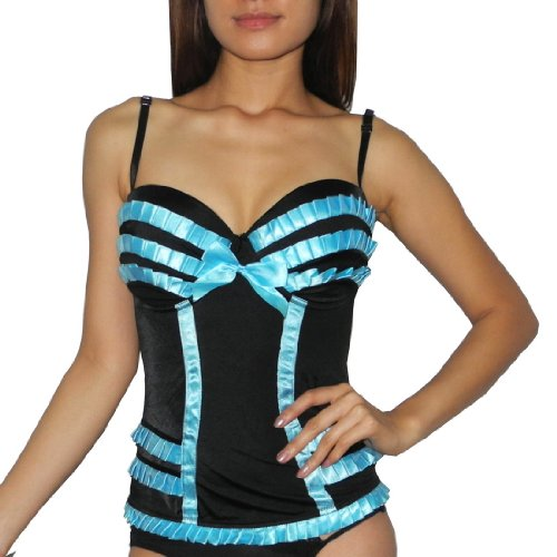 Womens Lingerie: Padded Underwired Bra Corset Babydoll Chemise Intimate Apparel
