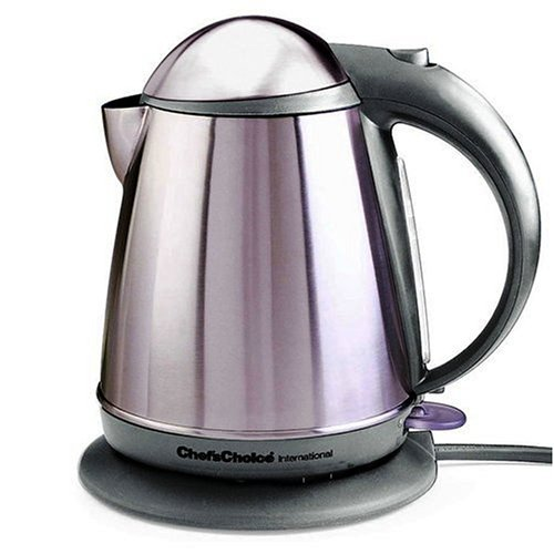 New Chef's Choice 677SSG Cordless Electric Kettle-Stainless Steel Gray
