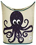 3 Sprouts Laundry Hamper-Octopus, Purple