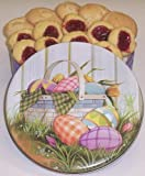 Scott's Cakes Cookie Combos - Strawberry Butter Cookies and Almond Macaroons 1lb. Easter Basket Tin