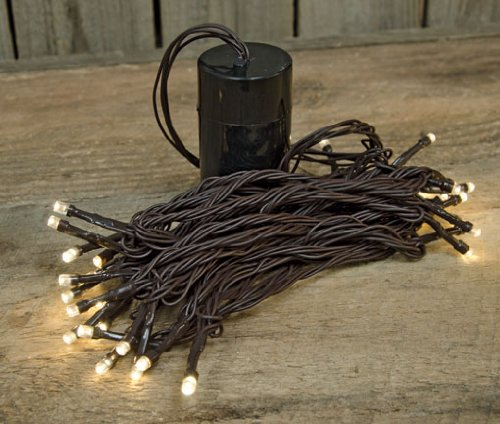 Battery Operated Timer Mini Lights Strand Brown Cord Country Primitive Floral Craft Décor