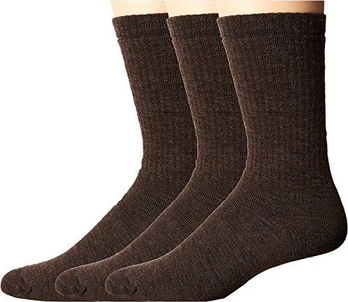 Smartwool Men's Heavy Heathered Rib 3-Pack Chestnut Socks XL (Men's Shoe 12-14.5)