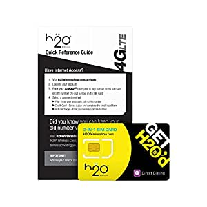 H2O SIM Card for H2O Wireless - Retail Packaging - Yellow/Black