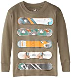 Wes & Willy Little Boys' Snowboards Long Sleeve Tee