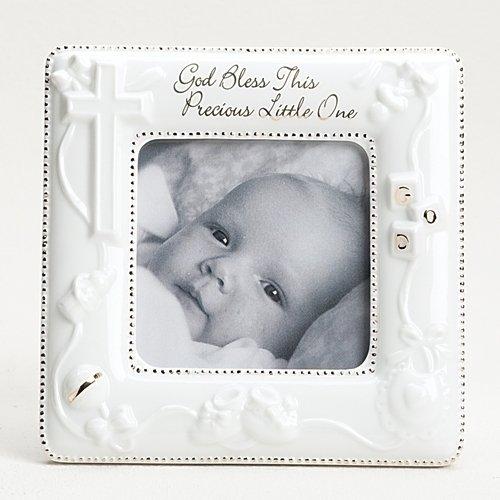 God Bless Porcelain Frame . 5.625