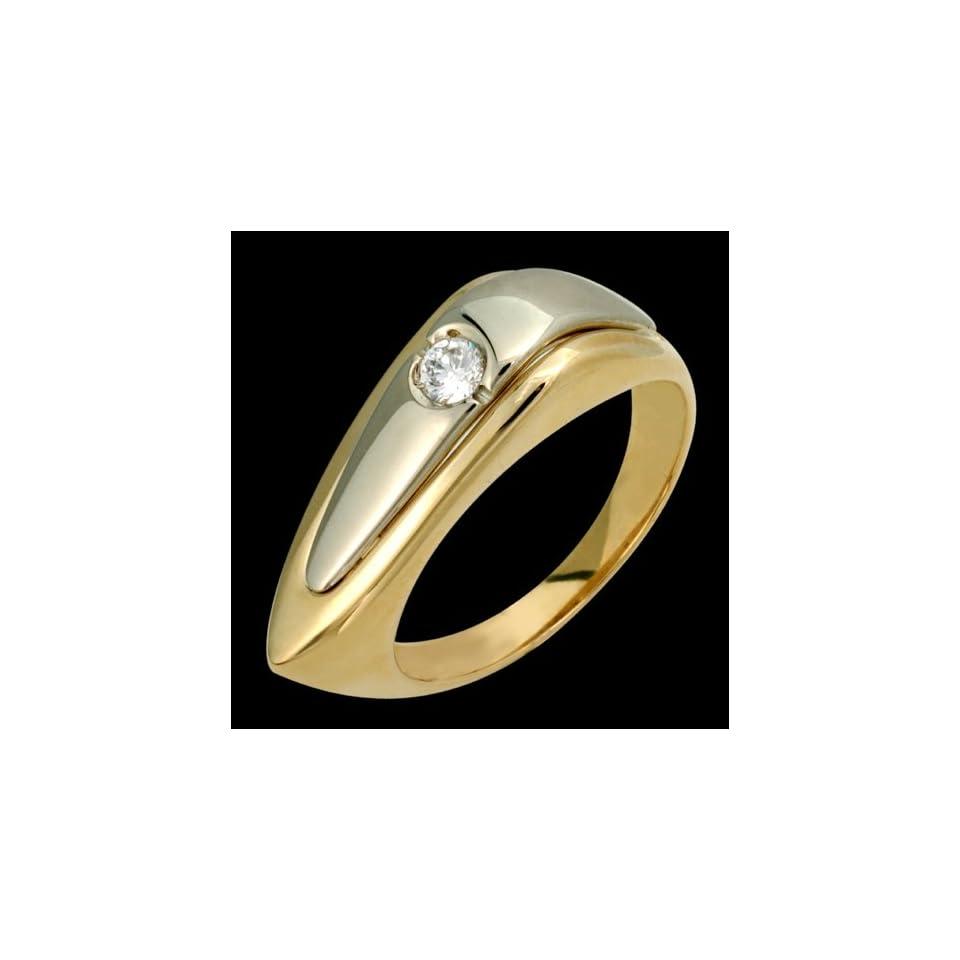 Twii   Fabulous 14k Two Tone Gold Diamond Ring   Custom Made.