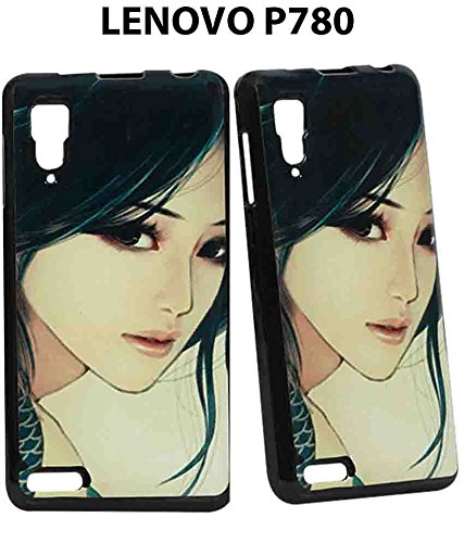 JKOBI(TM)Exclusive Rubberised Back Case Cover For Lenovo P780 / P 780-Charm Girl  available at amazon for Rs.225